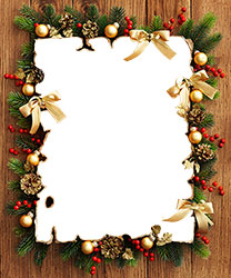 Mini Foto rámeček - Photo frame from Christmas decorations