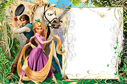 Mini Photo frame - Photo frame with princess Rapunzel