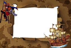 Mini Photo frame - Pirate. Boarding