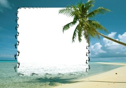 Mini Photo frame - Pleasure of desert island