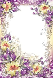 Mini Photo frame - Purple lilies
