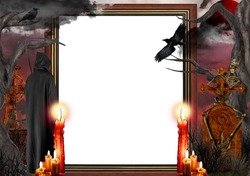 Mini Photo frame - Real Halloween horror