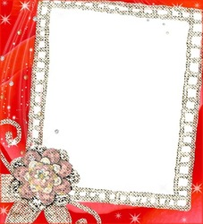 Mini Photo frame - Red flowers fantasy