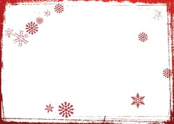 Mini Photo frame - Red snowflakes