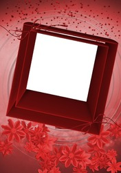 Mini Photo frame - Red square