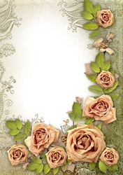 Mini Photo frame - Romantic mood in vintage style