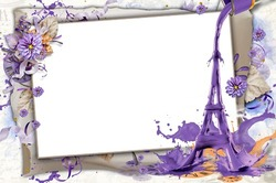 Mini Photo frame - Romantic encounter under the Eiffel Tower