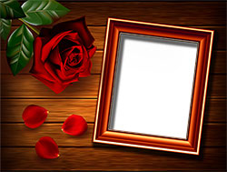 Mini Photo frame - Rose on the table