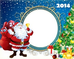 Mini Photo frame - Santa rings the bell