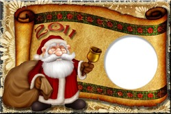 Mini Photo frame - Santa with bell