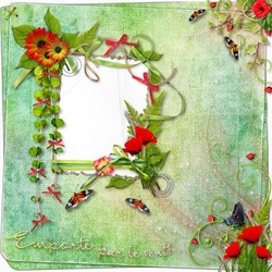 Mini Photo frame - Spring spirit scrap page