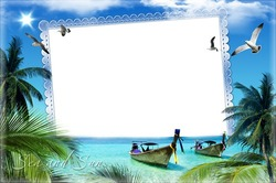 Mini Photo frame - Summer vacation in tropics