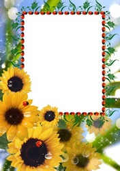 Mini Photo frame - Sunflowers for you