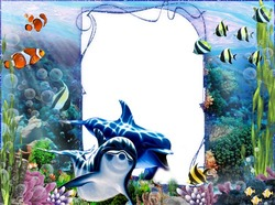 Mini Photo frame - Underwater world