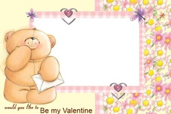 Mini Photo frame - Valentine's day. Teddy bear