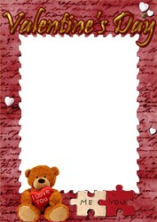 Mini Photo frame - Valentine's day. You and me