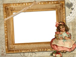 Mini Photo frame - Victorian style frame