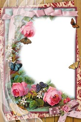 Mini Photo frame - Vintage flowers