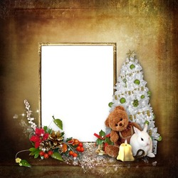 Mini Photo frame - Waiting for Christmas