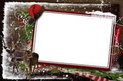 Mini Photo frame - Waiting for Santa in cold winter forest