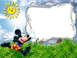 Mini Photo frame - What a sunny day with Mickey Mouse