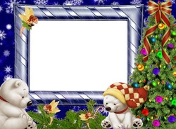 Mini Photo frame - White Teddy bears