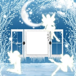 Mini Photo frame - Winter fairies