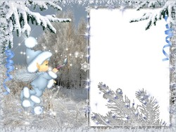 Mini Photo frame - Winter fantasy