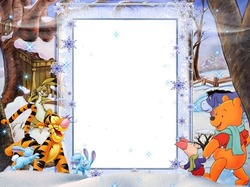 Mini Photo frame - Winter fun with Vinnie