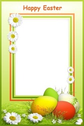 Mini Photo frame - Wish you happy Easter