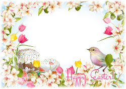 Mini Photo frame - Wishing you an Easter that is bright and happy