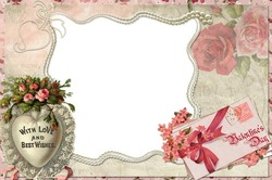 Mini Photo frame - With love and best wishes