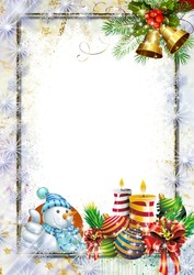 Mini Photo frame - With best wishes before the holidays