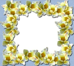 Mini Photo frame - Yellow flowers border