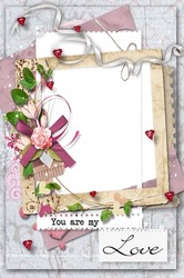 Mini Photo frame - You are my love