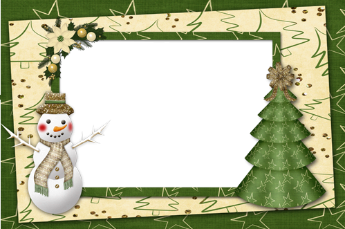 Photo frames. New year green madness