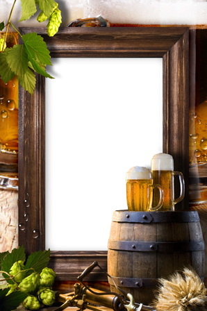Photo frames. Beer for friends