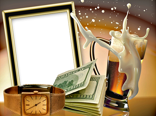Photo frame - Time is Money