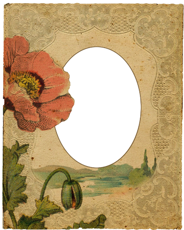 Photo frame - Vintage Frame with Poppy