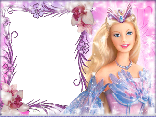 Photo frames. Barbie ready to play