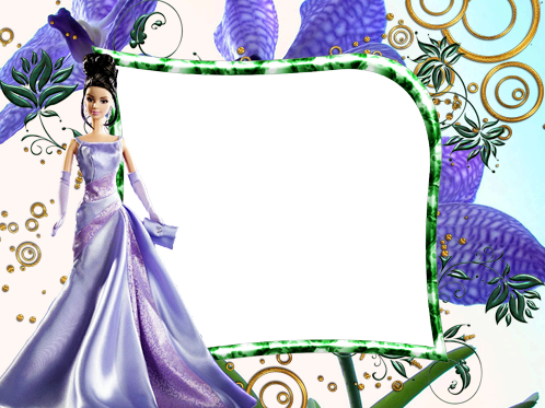 Photo frames. Barbie in the evening dress