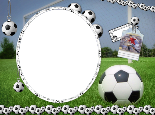 Photo frames. Football match