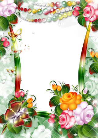 Photo frame - Fantasy Flowers