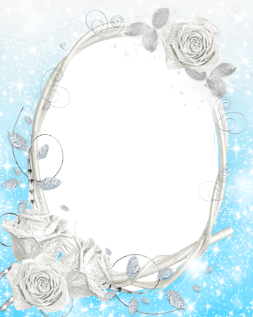 Photo frames. Frozen roses