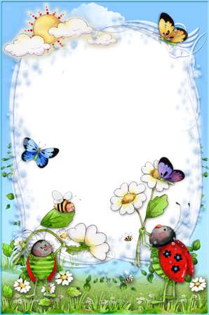 Photo frames. Funny bees