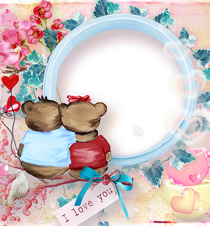 Photo Frames Two Bears In Love