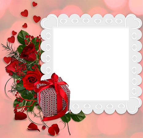 Photo frames. Love photo frame with a secret of a couple