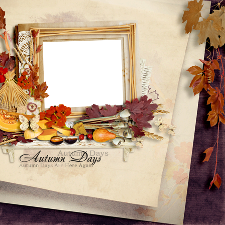 Photo frame - Days of autumn