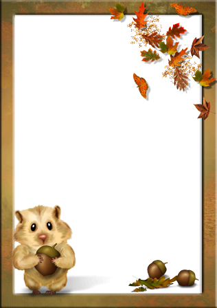 Photo frame - Autumn for kids