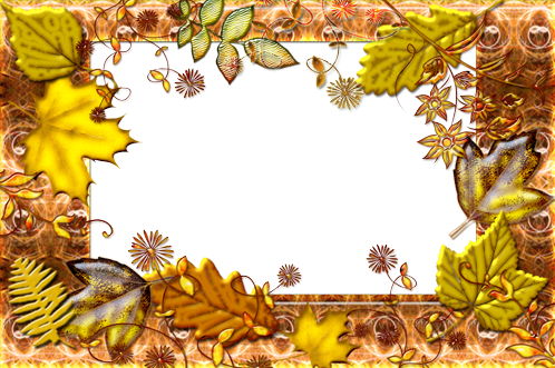 Photo frame - Autumnal leaf fall